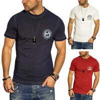 Jack & Jones Herren T-Shirt Print Shirt Kurzarmshirt Herrenshirt Freizeitshirt