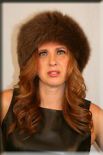 New Copper Brown Fox Fur Headband 26 Inches Long and 5 Inches Wide