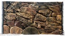 3D Aquarium Terrarium Decor Back Panel Struckturrückwand Stones Rocks Slate