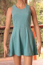 Cotton/Polyester Regular Size Dresses Stripes
