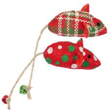 Two Rosewood Festive Jingling Christmas Stocking Catnip Mice Cat Kitten Toys