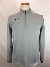 Oakley Regular Fit Gray 1/4 Zip Long Sleeve Pullover Men's Size Small