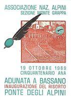Cartolina - Alpini - Adunata a Bassano - Timbro filatelico - 1969