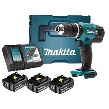 Makita DHP453 RF3J Perceuse Percussions Con 2 Batterie 3 Ah