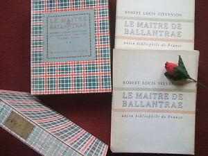STEVENSON ROBERT LOUIS : LE MAÎTRE DE BALLANTRAE 1948( 2 vol édition numérotée