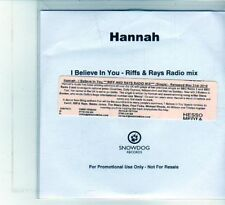 (DU751) Hannah, I Believe In You - 2010 DJ CD