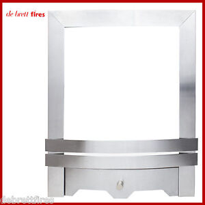 Focal Point Eko Trim/Frame and Front/Fret Gas Fire Contemporary Brushed Steel