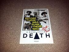 "A BAND CALLED DEATH PP SIGNED 12""X8"" INCH POSTER BOBBY DANNIS HACKNEY"