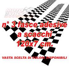 Fascia adesiva a scacchi PROFESSIONALE - dimensione 120x7 cm