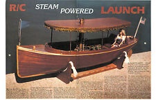 "Model Boat Plans 40 1/2""  R/C Steam Victorian Launch Full Size Printed Plans"