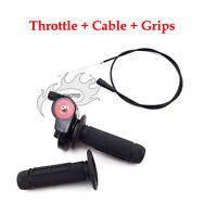 Twist Throttle Hand Grips Cable For SSR KLX CRF50 XR50 CRF70 Pit Dirt Trail Bike
