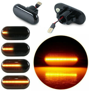 For Renault Megane1 Clio1 Kango Dynamic LED Side Marker Turn Signal Amber Lights