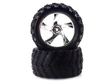 28663V Redcat Racing Chrome Wheels and Tires for Volcano-18 Monster Truck RC