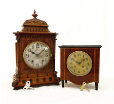 Two Antique German LENZKIRCH Mantel Clocks at 1906 and 1920 Quarter chime