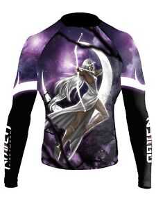 Raven Fightwear Women's The Gods of Greece Artemis Rash Guard MMA BJJ Black