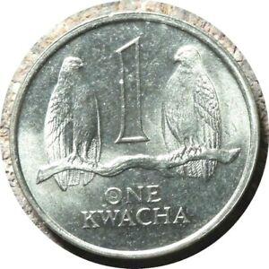 elf Zambia 1 Kwacha 1992  Falcon  Bird