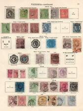 VICTORIA: 1863-1901 Examples - Ex-Old Time Collection - 2 Sides Page (33108)