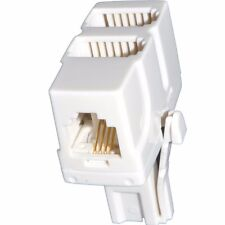 431A BT PLUG TO DUAL BT + RJ11 6P4C SOCKET TELEPHONE CABLE ADAPTOR,UK TO UK & US