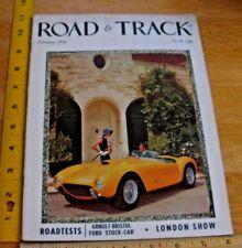 1956 Arnolt-Bristol Ford Stock car Maserati MG races Road & Track magazine