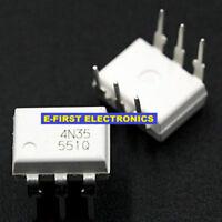 100pcs White 4N35 FAIRCHILD Optocoupler DIP-6 Optoisolator - Transistor DIP