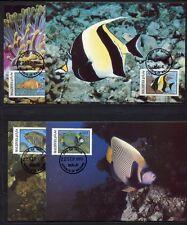 s3697) MALDIVE ISL. 1986 MNH** WWF, fish 4v MAXICARDS