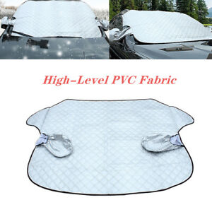 Car Winter Snow Ice Windshield Cover Sun Shade Protector Rain Dust Frost Silver