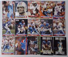 1991 Pro Set Series 1 Houston Oilers Team Set 15 Football Cards