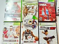 XBOX 360 Sports Bundle Lot of 7 Games NBA Live 09 FIFA 11 13 NHL 08 MLB 2K7