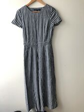 1fb0e500a603 FRENCH CONNECTION blue and white striped jumpsuit size 8 - never worn