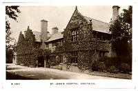 Antique RPPC postcard St Johns Hospital Droitwich real photograph