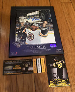 Brad Marchand Boston Bruins signed autographed Plaque Stanley Cup 8x10 YSMS