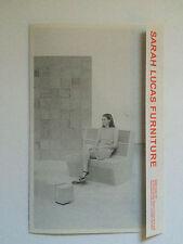 Sarah Lucas, furniture brochure, Sadie Coles HQ Gallery.