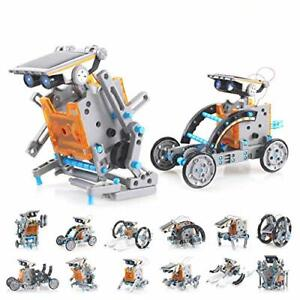 Solar Robot Kit 12-in-1 Science STEM Robot Kit Toys for Kids Educational DIY