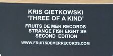 RARE Fruits De Mer Kris Gietkowski Three Of A Kind Second Edition 3CD Set Prog