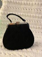 Vera Bradley Black Mini Quilted Frame Clasp Clutch Purse DS07