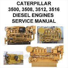CATERPILLAR SERVICE OPERATOR MANUAL 3500 3508 3512 3516 Engines Generator on CD