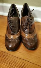 Brown Wingtip Womens Heels Size 7.5