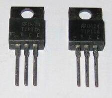 2 X National PNP Darlinton Transistor - TIP116 - 80V - 2A - Gain: 500 (1000 max)