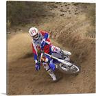 ARTCANVAS Dirt Bike Motocross Drift Canvas Art Print