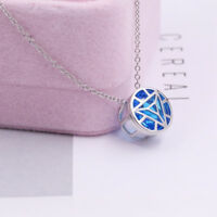 Iron Man Arc Reactor 925 Silver Necklace Cosplay Pendant Clavicular Chain Gifts