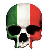 Aufkleber Totenkopf Italien Italian Skull Sticker 8 x 6 cm Helm Airbrush