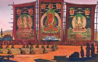 Nicholas Roerich Mongolian Tsam Religious Ceremony Giclee Canvas Print Paintings