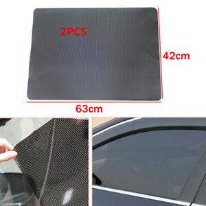 2X PVC Car Side Window Net Sun Shade Shied Solar Mesh Film Sticker UV Protector