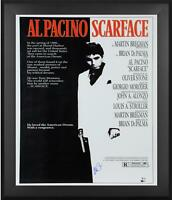 "Al Pacino Scarface Framed Autographed 27"" x 40"" Full Sized Movie Poster BAS"
