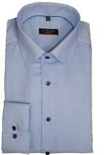 eterna Hemd Modern Fit blau gemustert 8131/15 X18P extra lang 72 cm Arm