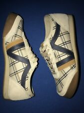 Vintage Vans Dabney 2 Womens Baige Suede Leather Shoes Size US 8 Rare