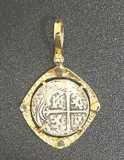 ATOCHA Coin Nugget Pendant 14K Yellow Gold Sunken Treaure Shipwreck Coin Jewelry