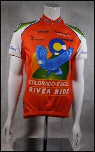 CUSTOM VOLER COLORADO EAGLE RIVER RIDE CYCLING JERSEY RACE RAGLAN WOMENS S