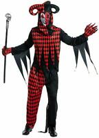 Men Clown Costume Fancy Dress Cosplay Halloween Party Funny Outfit For Adult