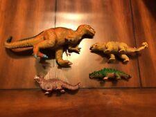 Lot Of 4 U.K.R.D Dinosaur Solid Plastic
